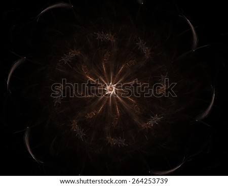 Abstract design of white powder cloud against dark background - stock photo