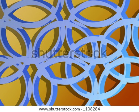 Abstract design pattern - circle composition. - stock photo
