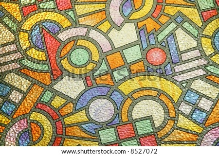 abstract design, random colored tiles background ideal for backgrounds - stock photo