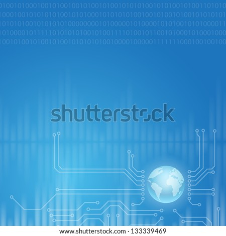 Abstract design technology theme vector background. Raster version of the loaded vector. - stock photo