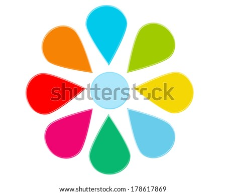 Abstract design with flower shape for web, marketing or presentations