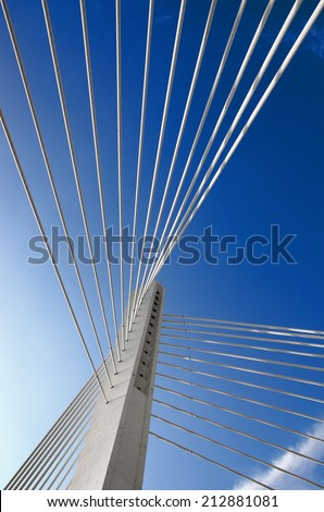abstract detail Millennium Bridge in Podgorica, Montenegro - stock photo