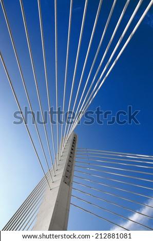 abstract detail Millennium Bridge in Podgorica, Montenegro - stock photo