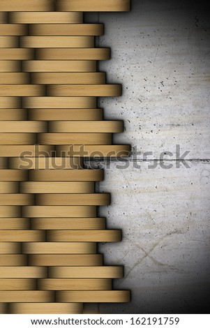 abstract detail of installing wooden floor on concrete surface