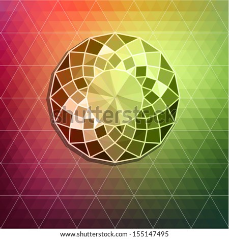 Abstract diamond background - raster version - stock photo