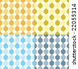 abstract diamond seventies inspired  wallpaper design ideal as a background or desktop with four color variations - stock vector