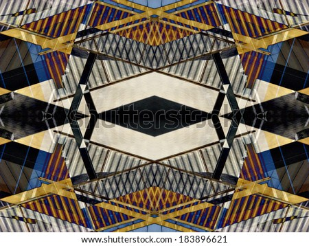 Abstract digital art derived from a photograph. - stock photo