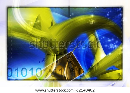 Abstract digital background - stock photo