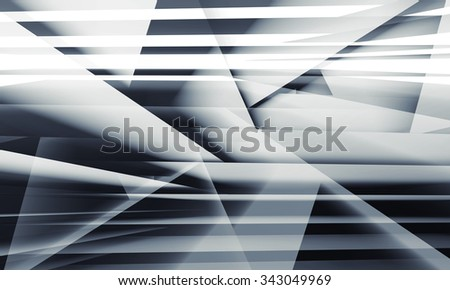 Abstract digital background with chaotic multi layered structures, 3d illustration