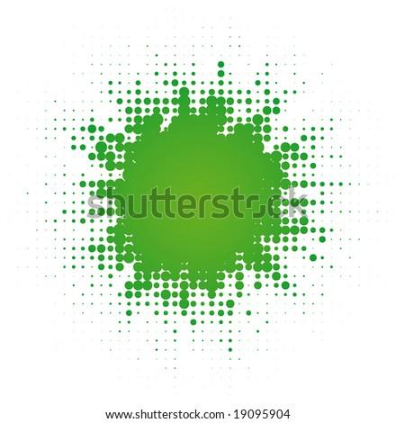 abstract digital blob   (vector in portfolio) - stock photo