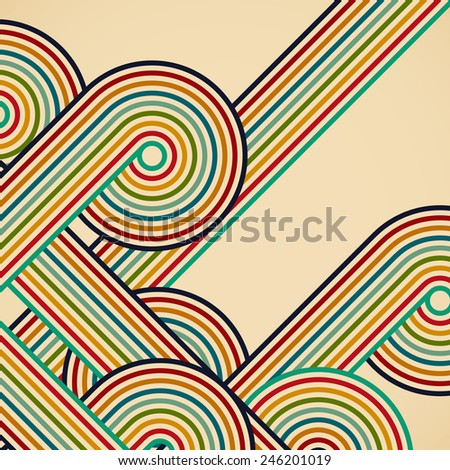 Abstract digital circles background - stock photo