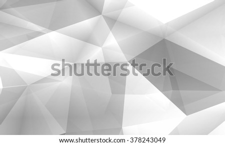 Abstract digital 3d chaotic polygonal structure, modern computer graphic illustration useful as a wallpaper - stock photo