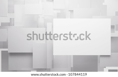 Abstract digital 3d square backgrounds - stock photo