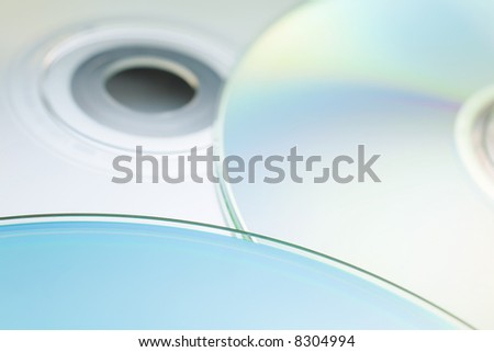 Abstract digital disc background (cd cdr and dvd) - stock photo