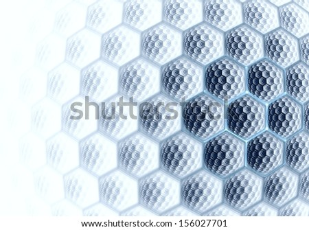 Abstract digital fractal hexagon blue art on the white background - stock photo