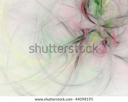 Abstract digital fractal smoke background - stock photo