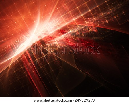 Abstract digital red background - stock photo