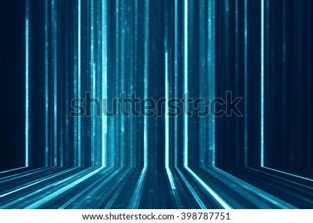 Abstract digital science fiction matrix like background - stock photo