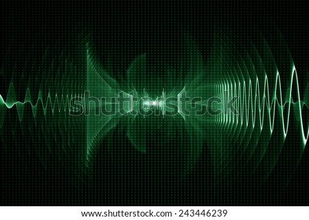 Abstract digital sound sonic wave background - oscilloscope - stock photo