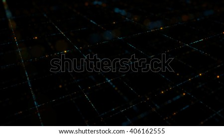 abstract digital technology background made of particles