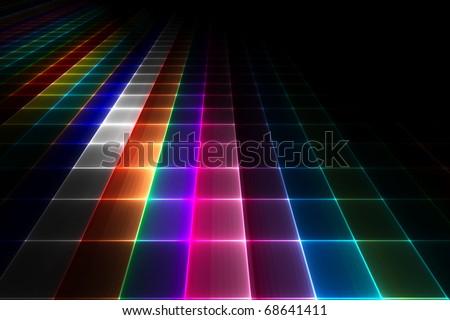 Abstract disco floor background - stock photo