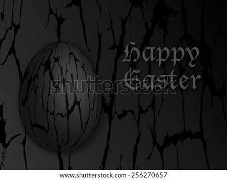 Abstract distorted gothic 3d egg happy stock illustration abstract distorted gothic 3d egg happy easter gift card background black gothic easter egg with distortion negle Choice Image