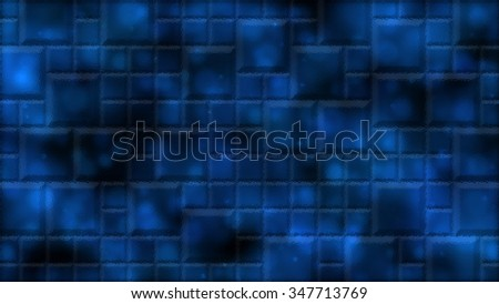 Abstract Distorted Tiled Background Illustration - Blue - stock photo