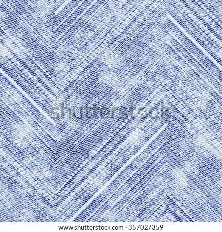 Abstract distressed chevron grunge strokes. Seamless pattern. - stock photo