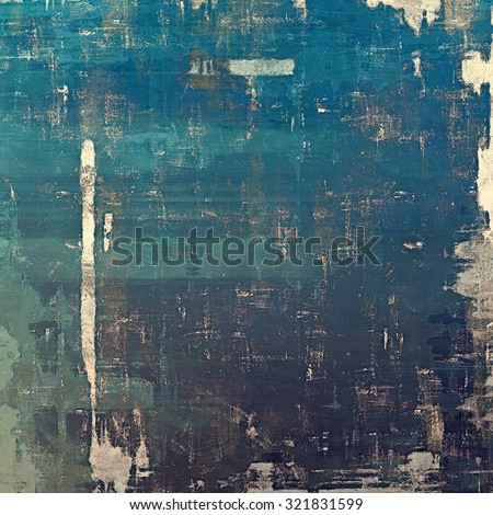 Abstract distressed grunge background. With different color patterns: yellow (beige); blue; gray; cyan - stock photo