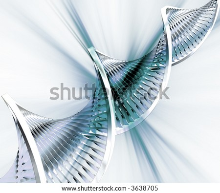 Abstract DNA background - stock photo