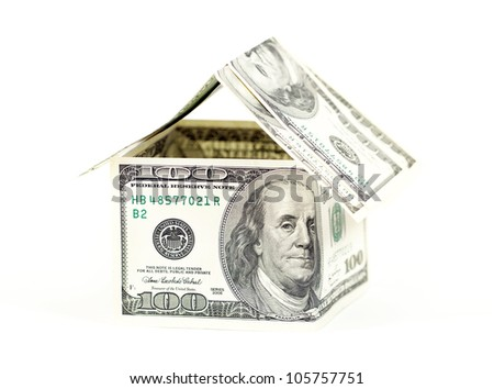 Abstract dollars concept means mortgage or hypothecation - stock photo