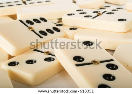 abstract dominoes background