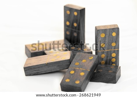 Abstract dominos - stock photo