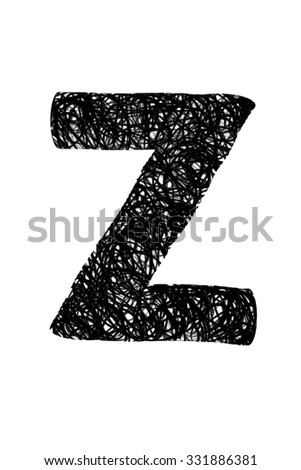 abstract doodle drawing english alphabet letters on white background/doodle letter/abstract doodle drawing english alphabet letters on white background