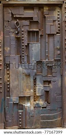 abstract door - stock photo