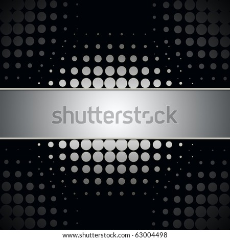 Abstract dots background with space for text - stock photo