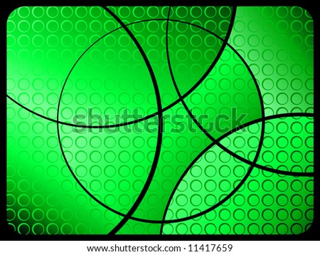 Abstract dots on green background
