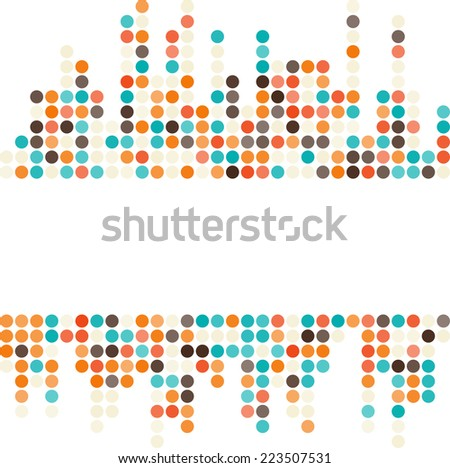 Abstract dotted colorful background texture with copy space - stock photo