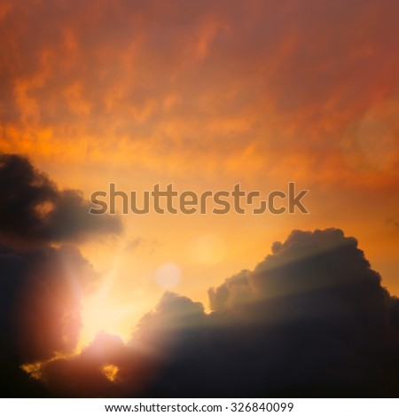 Abstract  dramatic sky Light background