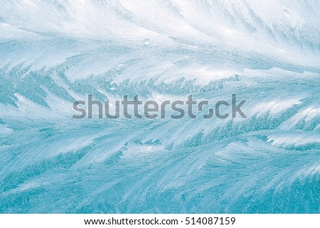 Abstract drawing frost on glass background