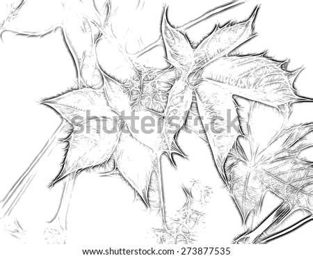 Abstract drawing nature - stock photo