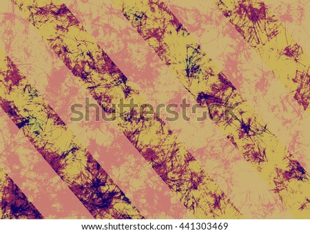 Abstract drawn grunge background in beige colors with diagonal stripes. Banner with effect of crumpled paper with scratches, abrasion, crack. Series of Grunge, Oil, Pastel, Chalk and Inc Backgrounds. - stock photo