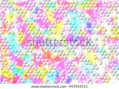 Abstract drawn watercolor bright colorful background. Horizontal artistic creative banner. Series of Watercolor, Oil, Pastel, Chalk and Inc Backgrounds. - stock photo