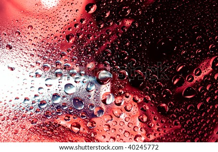 Abstract drops - stock photo
