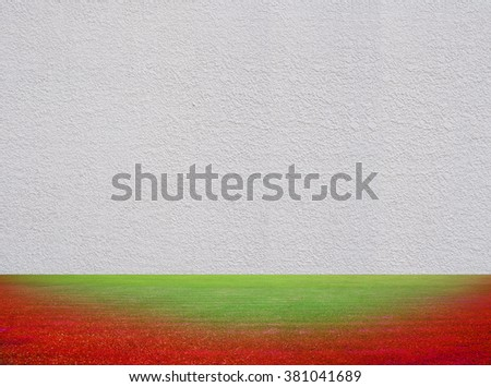 abstract Dye Grass and cement wall texture for background - stock photo