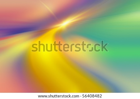abstract dynamic and associative color composition of lines and light-spots - stock photo