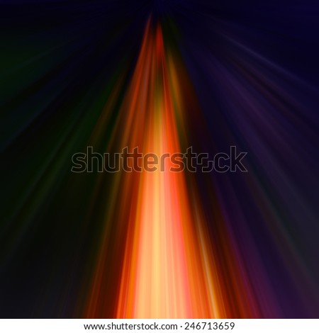 Abstract dynamic composition orange and yellow rays on dark background