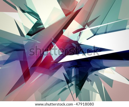 abstract dynamic 3D composition - stock photo