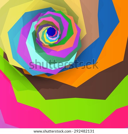 Abstract dynamic illustration, colorful art background - stock photo
