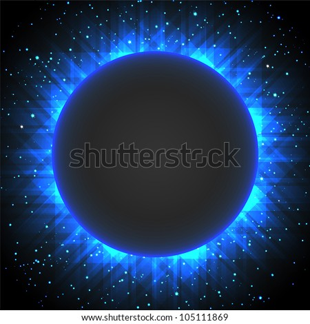 Abstract eclipse background. Raster version
